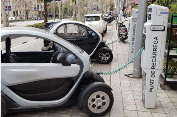 הרכב החשמלי. טעינה בברצלונה