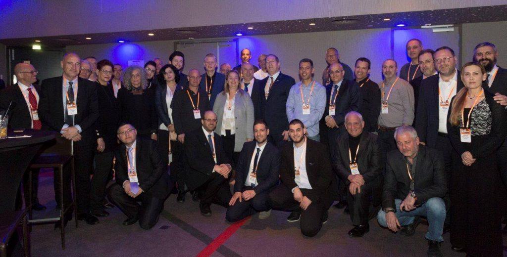 המשלחת הישראלית באירוע הילטון-אמסטרדם. (מסר אחד בהנהלת פיני קבסה)